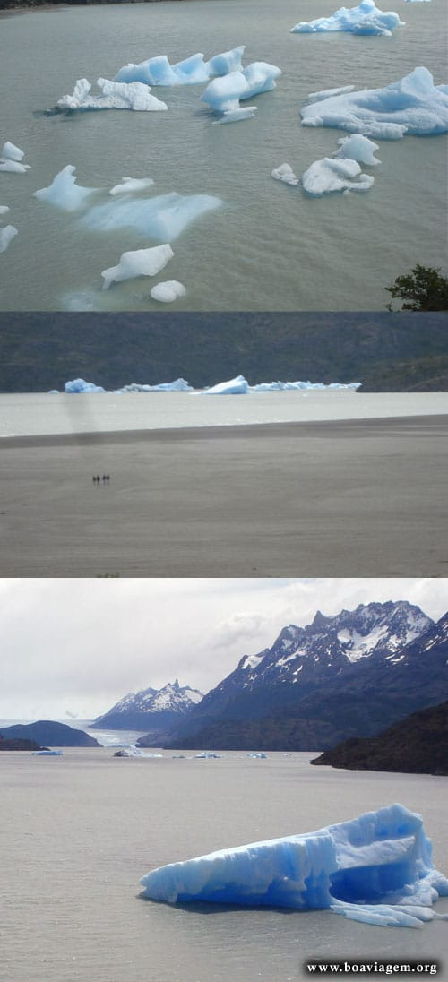 Lago Grey e os Icebergs do Glaciar Grey