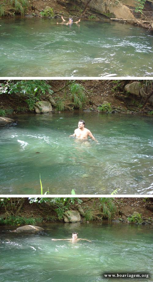 Eu nas águas quentes do Rio Quente