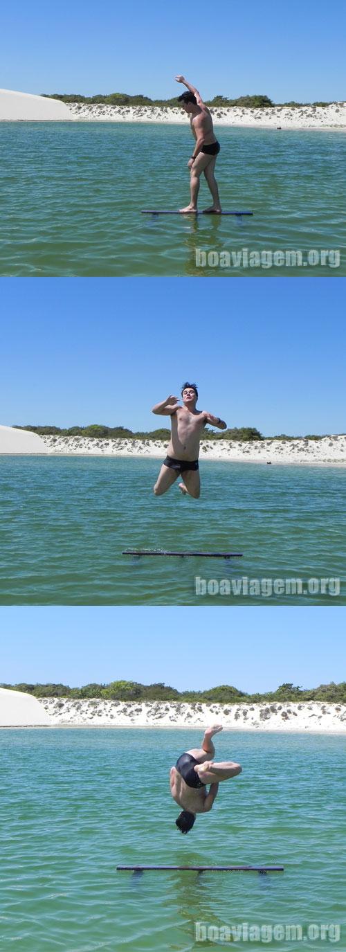 Mergulhando nas lagoas de Jeri