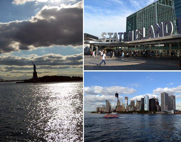 Staten Island Ferry - vista da Estátua da Liberdade e de Manhattan