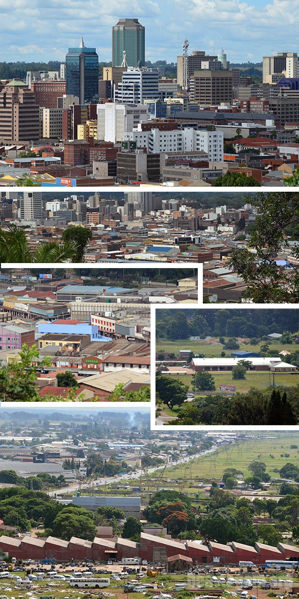 Harare, capital do Zimbabwe - África
