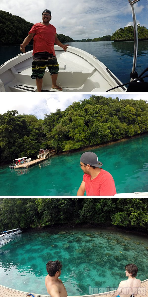 Chegando no Jellyfish Lake - Palau