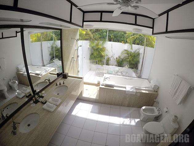 Banheiro simplesmente ESPETACULAR no Cap Juluca