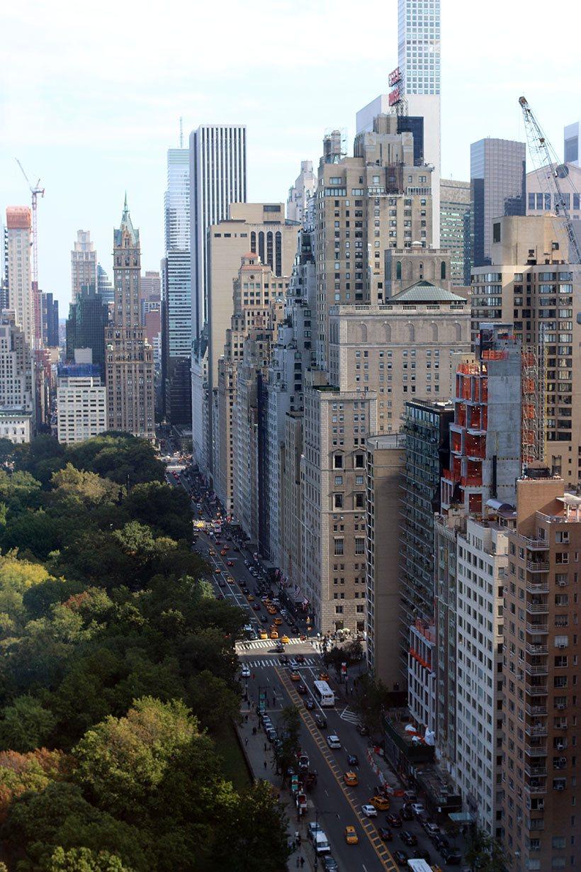 Bela vista de Manhattan obtida desde o Restaurante Asiate