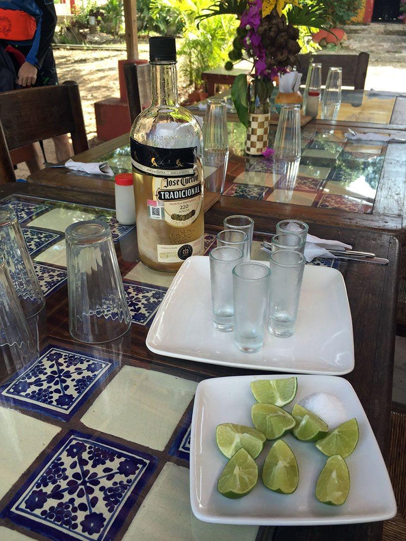 Uma dose de tequila para abrir o apetite