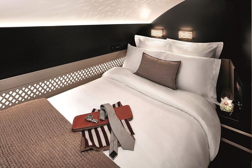 Classe executiva vira uma cama na Etihad Airways