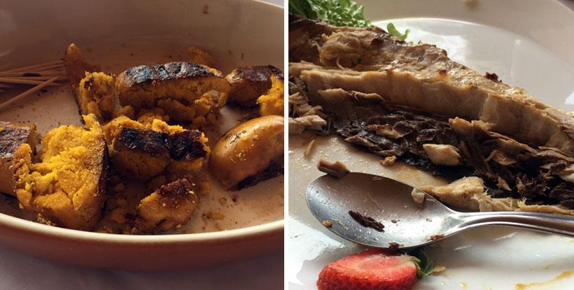 Ovas e tainha no Zequinha Restaurante