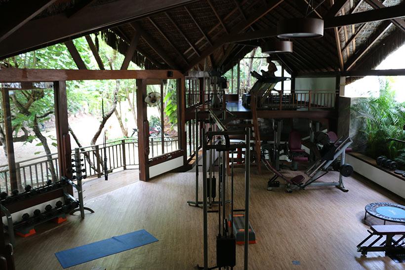 Visão geral da academia do Spa Sombra e Água Fresca
