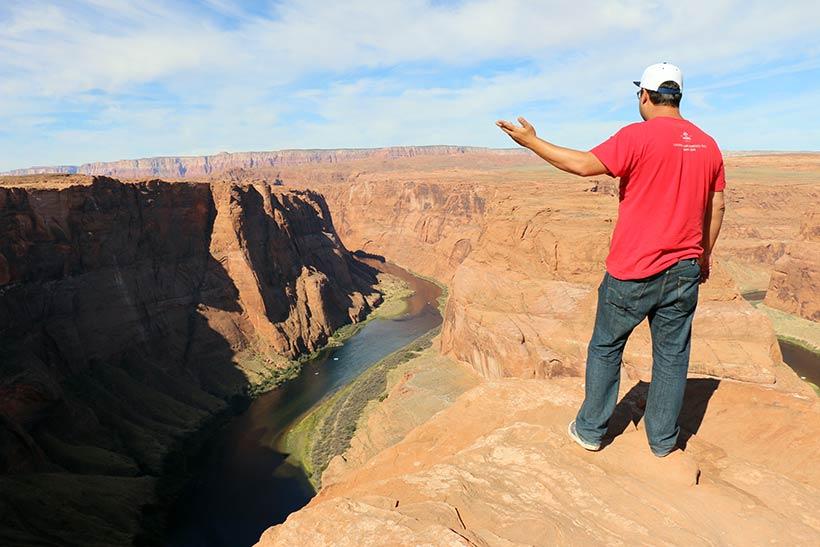 Curva no Rio Colorado próximo a Page, no Arizona