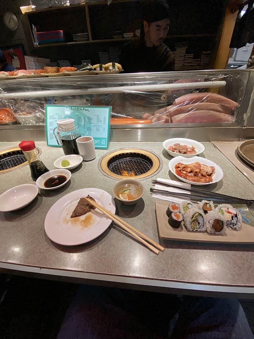 Sushi, Sashimi e Korean BBQ em Vancouver