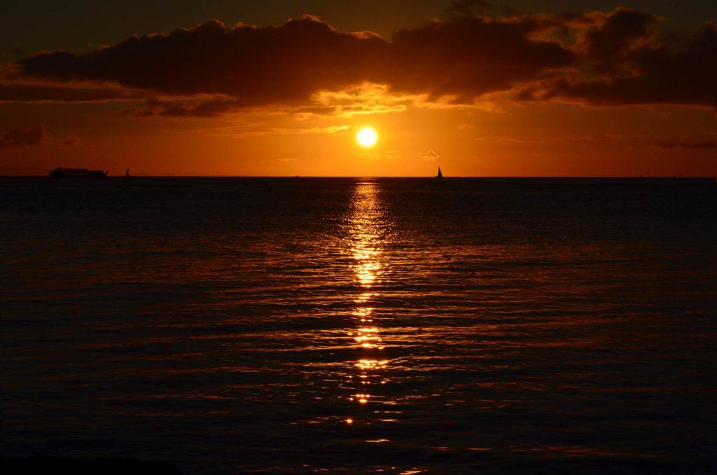 Pôr do Sol em Honolulu