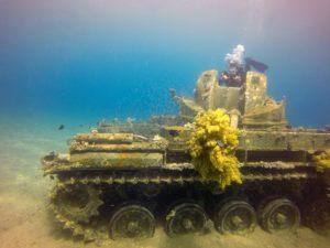 tanque naufragado em Aqaba