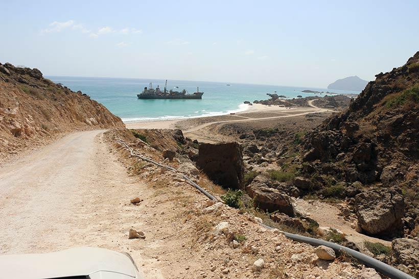Rumo às praias de Salalah, no Omã