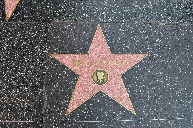 Calçada da Fama: homenagem a Nicolas Cage