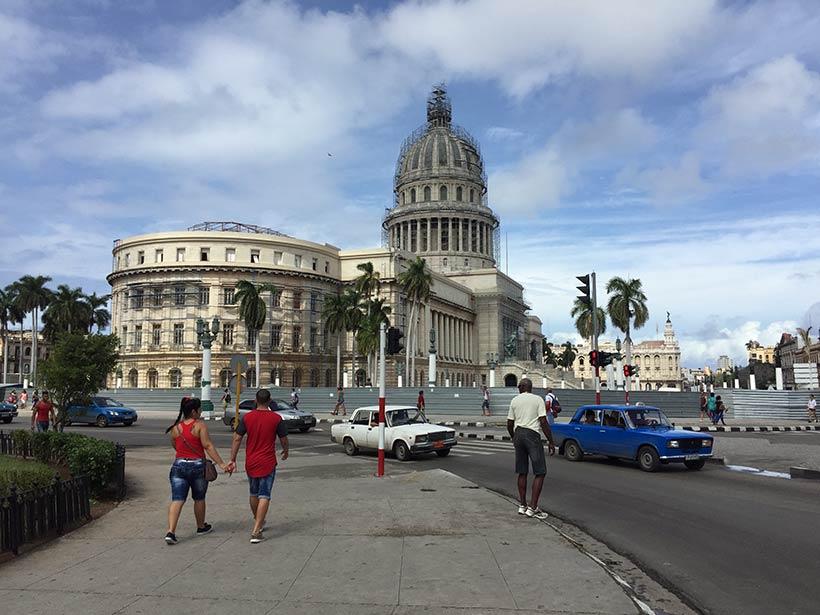 Vista do Capitólio em Cuba