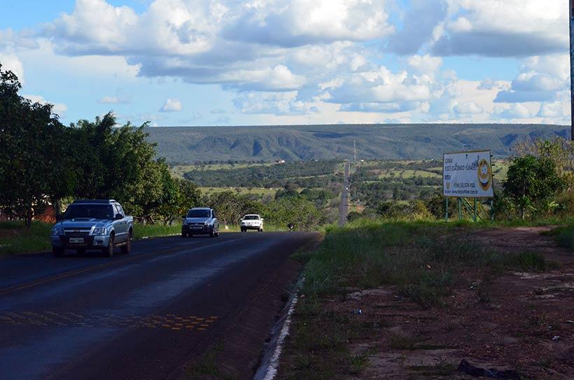 Estrada chegando a Caldas Novas